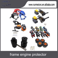 Motorcycles exhaush frong rear wheel frame crash slider pads racing engine cnc protector parts