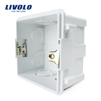 White Plastic Materials, 83mm*83mm UK Standard Internal Mount Box for 86mm*86mm Standard Wall Light Switch