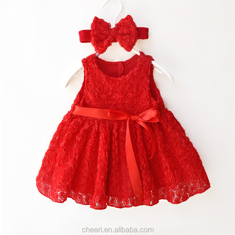 HT-RSS new style best selling plain red baby rompers baby clothing set 2017