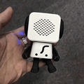 Portable lovely square wireles smart robot dancing mini dog speaker with sd card slot