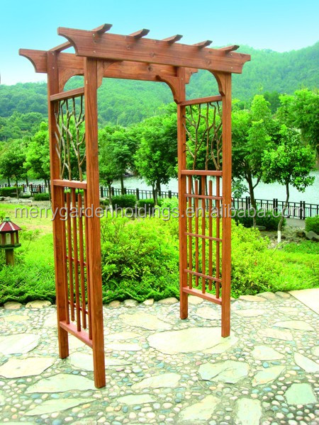 garden decorative arbor and arch/wooden lattice farden arbor