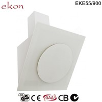 CE GS CB SAA Approved Best Selling 90cm Wall Mounted Round Integrated Glass Modern Auto Open Sensor Touch White Range Hood