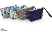 high quality beauty mini clear cosmetic bag polyester material