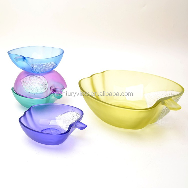 Glass Salad Bowl Glass Round Bowl Food Storage Containers Glass Bowl Set