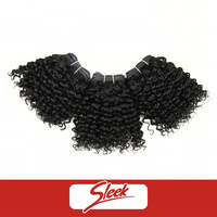 Sleek Factory Price Cheap Short Curly Hair Weaving All in One Indian Remy Hair