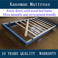 Cheap knock down solid wood bed frame