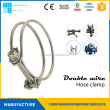 Manufacturer 28mm TJSJ double wire hose clamp manufacturer