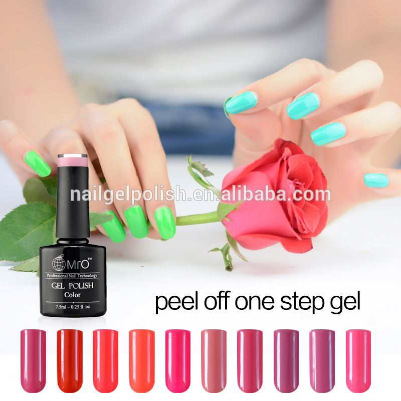 heyuan makeup private label cosmetics soak off uv gel nail polish peel off gel polish matte nail polish
