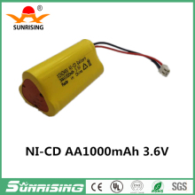 Brand 1000mah NI-CD battery 3.6v ni mh aa battery pack rechargeable for clipper shaver RC boat model car toy