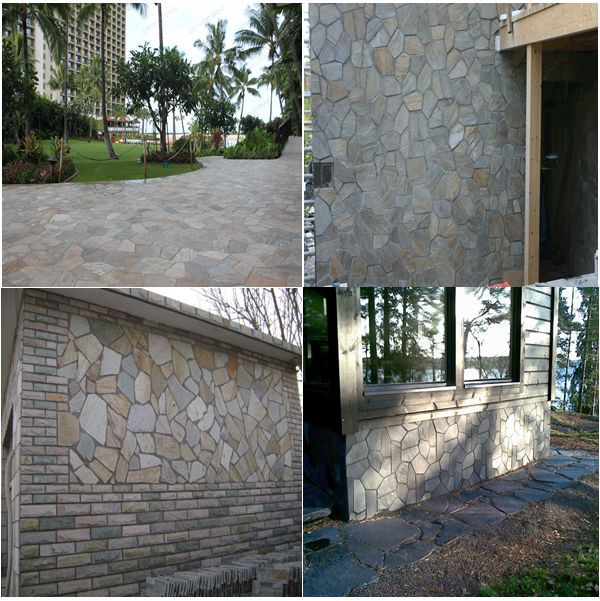 Golden grey crazy paving for outdoor paver