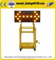 2016 new style 15 Lamps Traffic led light arrow board,yellow warning board