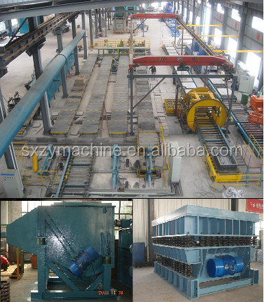 foundry PEP SET resin sand moulding equipments/foundry resin sand casting line