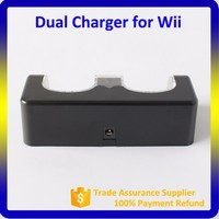 Hot Selling Product For Wii Battery Pack White Black Dual Charger For Nintendo