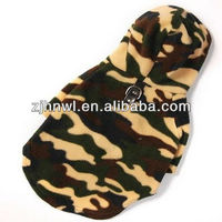 Winter Pet Clothing Wholesale Dog Coats Camo Army Fleece Hoodie Pet Coat