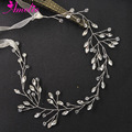 Bridal Hair Headband Silver Plated Hand Wired Hair Halo Women Headpiece Crystal Bachelorette Hair Vine Photo Prop Jewellery