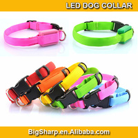 100pcs1.5mm XS small LED Nylon Collar Pet Dog Safety Light-up Flashing collar Glow 18-28cm Size for small puppy cat dog DC-1509A