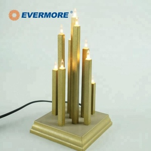 Evermore holiday decoration glitter candle led light for festival