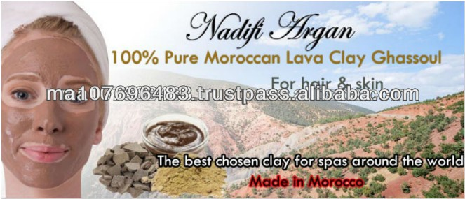 100% Pure Moroccan Lava Clay Ghassoul for Hair and Skin