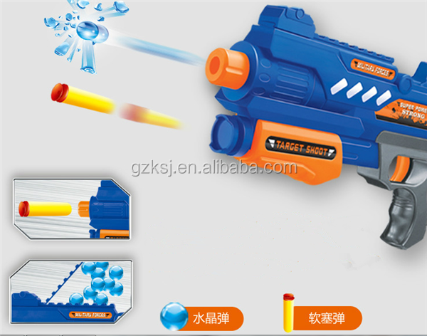 2016 hot children crystal water bullet soft bullet gun toy for battle games