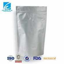 various size zip lock coffee packaging bag with degassing valve for ground coffee