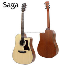 solid wood acoustic guitars with beautiful design by saga ,D10SC