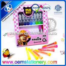 18 pcs water-soluble color pencil/watercolor pencils for children
