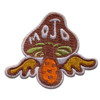 Eco-Friendly Embroidery Threads Fabric Mushroom Angel Wings Attractive Patch For Backpack