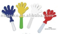 hand shape clapper to make noise with logo for promotional