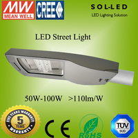 Top quanlity 5 years warranty 90W 105W 120W 135W 150W 175W 180W 200W 250W LED Street Light With CE Rosh Certification