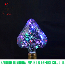 String Light H125 Fast Flash Copper Wire Heart Shape Led Bulb E27 B22