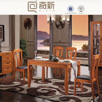 Rubber wood chinese style dining room table and chair