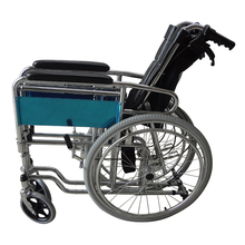 Durable handicapped high back lengthened backrest wheelchair