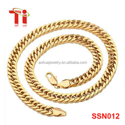2016 New Gold Necklace Chain 316L Stainless Steel Rope Chain With 18K Gold Plated, New Chain Design for Men