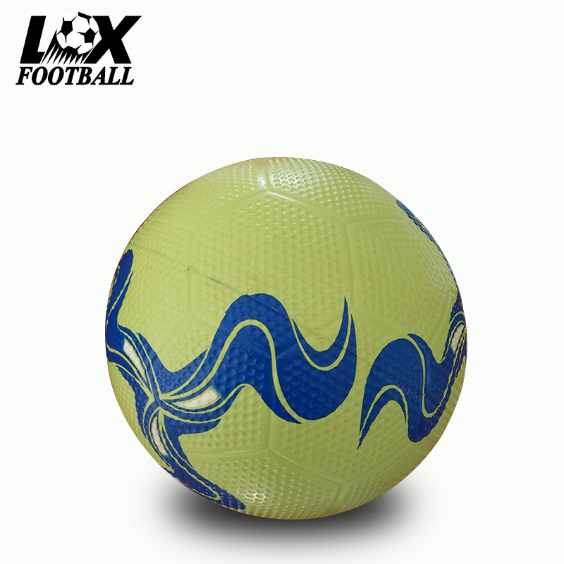 Cheap promotional size 4 rubber ball soccer football