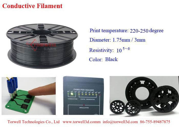 High quality Conductive filament for 3D printer
