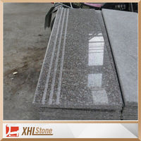Chinese natural stone granite g664 polished granite straight Tea Brown granite stair step