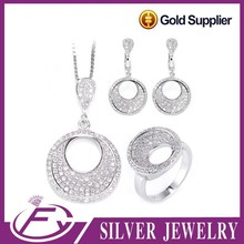 Good looking aaa cz stone 925 sterling silver jewelry from afghanistan