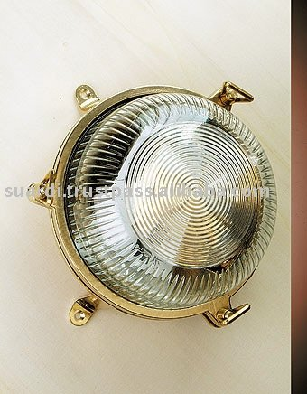 Polished Brass Round Light