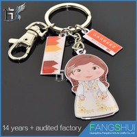 Wholesale fashionable metal voodoo doll keychain large supply