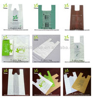 promotion t-shirt biodegradable plastic shopping bags