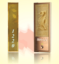 AODSN hotel number display metal electronic doorplate