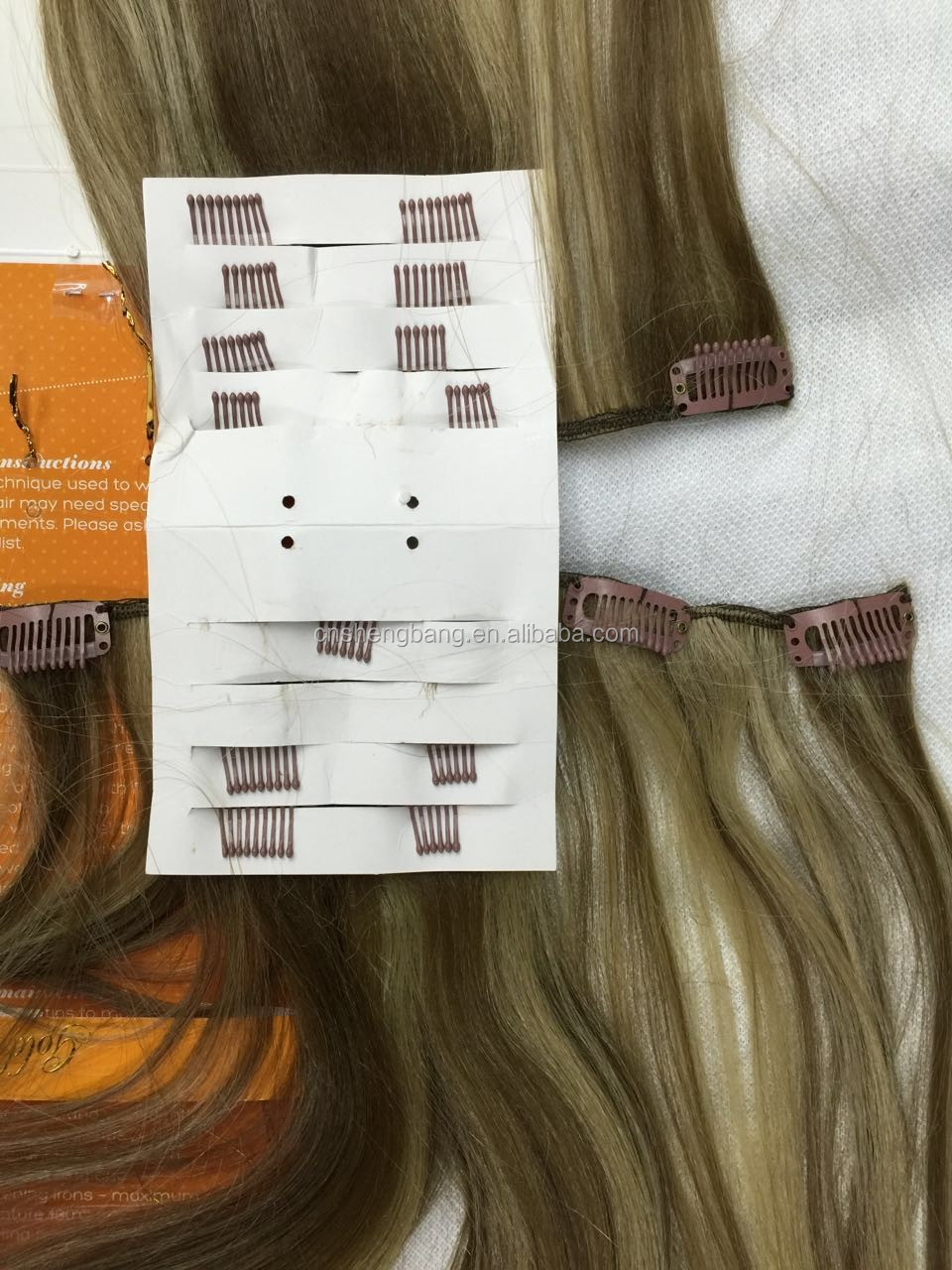 "The Look Gold 22 Synthetic hair weave with clips,7pcs clips on 22"" weave,17clips/100g/pcs ,color P10-16"