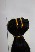 free tangle jet black good quality single color 22 inch brazilian human hair extension clip in hair braid