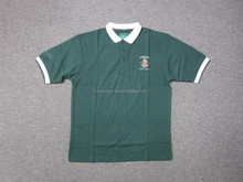 High Quality professional mens polyester / cotton french terry polo shirt with embroidery