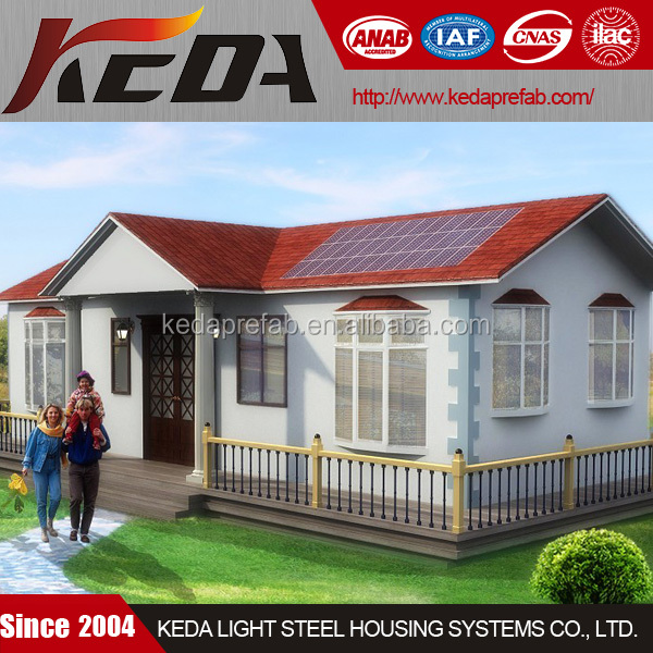 Cheap Steel Frame Prefabricated Kit Home for Luxury Mobile Villa House