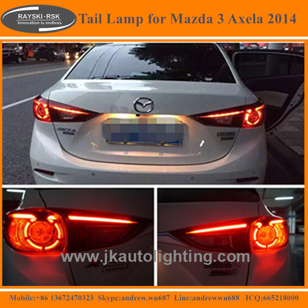High Quality LED Tail Light for Mazda 3 Axela Hot Selling LED Tail lamp for Mazda 3 Axela 2014-2016