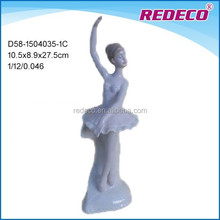 Ceramic ballerina ballet dancer statue