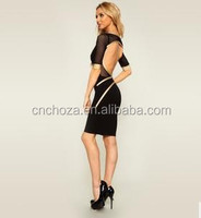 Z59525A Short sleeve sexy Midi Ladies sexy backless Dress