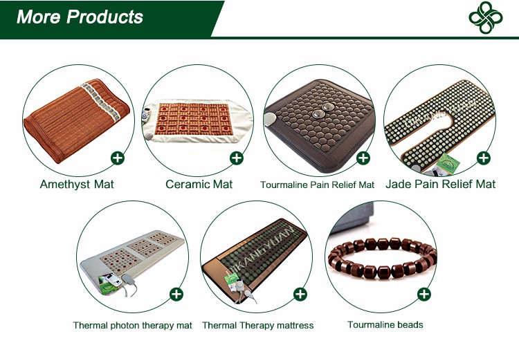 korea heated magnetic germanium jade stone massage mat