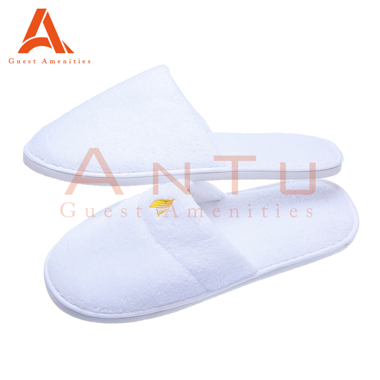 Disposable White Cheap Hotel Slippers For Guests